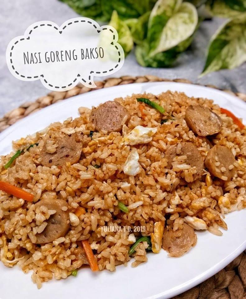 Resep Nasi goreng bakso Sederhana dan Enak